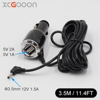 XCGaoon 3.5mm Charger for Car Radar Detector / GPS input Output 12V 1.5A With 2 USB