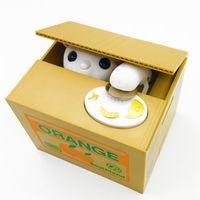 Cat money box panda Thief toy banks gift Money Saving Box