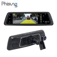 "10"" full mirror touch 4G ADAS Car DVRs Android 5.1 1080P Video Recorder Phisung"