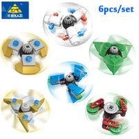 kazi 6pcs/Set DIY fidget spinner Buildable Spiner Plastic