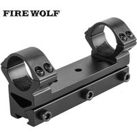 "FIRE WOLF Hunting Tactical Dual 25.4mm 1"" inch Rifle Scope Rings Mount See-Through"