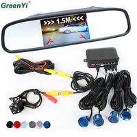 GreenYi 3 in 1 Assistance System With Rear View Camera 4.3 inch LTF LCD Car Mirror