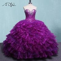 ADLN Purple Ball Gown Quinceanera Dresses Sweet 16 Dresses