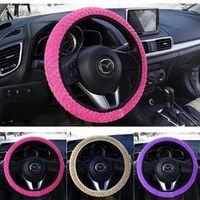 sikeo Universal Soft Warm Plush Car Steering Wheel Cover Car-styling Pearl Velvet