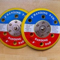 KATJASKY 2pcs/lot 5 inch sanding disc polish pad for air with vacuum for 125mm