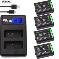 YUBOLI 4x LP-E10 LP E10 LPE10 Camera Batteries LCD USB Dual Charger for Canon EOS