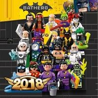 Single Super Hero BATMAN MOVIE Series Figure Jor-El Batgirl Zan Jayna General Zod Black Canary building blocks toy for children