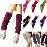 Lanshifei Women Ladies Winter Knit Crochet Leg Warmers Knee