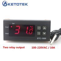 KETOTEK Two Relay Output LED Digital Temperature Controller Thermostat Incubator