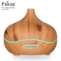 FEA 300ml Mist Humidifier Wood Grain Ultrasonic Aroma Essential Oil Diffuser for Office Home Bedroom Living Room Yoga Spa