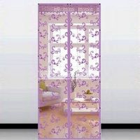 Summer Mesh Prevent Mosquito Kitchen Window Curtains Door curtain Lovely Tree planting Pattern Home curtalns for living room