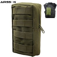 Airsson Airsoft Sports Military 600D MOLLE Utility Tactical Vest Waist Pouch Bag