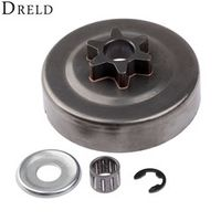 DRELD 3/8 6T Clutch Drum Sprocket Washer E-Clip Kit For STIHL Chainsaw 017 018