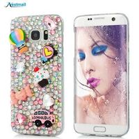3D Rhinestone Case For Samsung Galaxy A3 A5 2017 Note 5 S7 Edge S8 Plus Glitter Bling Crystal Diamond Protective Shell Cover T35