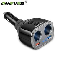 Onever Car-Charger Quick Charge Dual QC 3.0 USB Car Charger With LED Display 2 Way