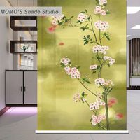 MOMO Blackout Curtains Roller Shades Fabric Custom Size