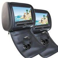 EinCar Black 2 PCS Car Headrest DVD Player 9'' HD display Screen with FM Transmitter