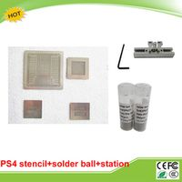 Best combination 4pcs/lot Direct Heat PS4 stencils with 0.4/0.55mm solder ball 25K PMTC Leaded and direct reballing station