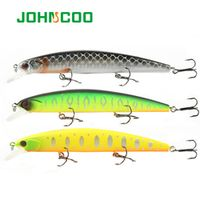 JOHNCOO Minnow Fishing Lure 130mm 20g Hard Bait Long Casting Wobbler