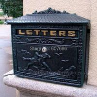 Rural Cast Iron Mail Mailbox Antique Metal Wall Mount
