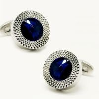 BFQ Fashion Crystal Cuff Links Sea Blue Color Hotsale Luxury Wedding Design Free Shipping