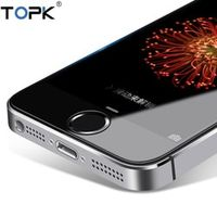 [2-Pack] For Apple iPhone 5 Tempered Glass Film TOPK 9H Hardness  HD  Tempered Glass Screen Protector for iPhone 5s 5 SE