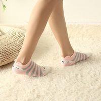 Yun Meng Ni 5 Pairs/lot 3D Ears Women Cute Low Cut Slippers