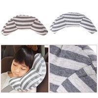 QILEJVS Children Car Seat Headrest Pad Shoulder Support Cushion Cotton Soft Sleep