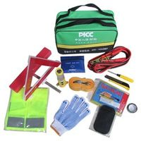 Automotive Emergency First Aid Kit Vehicle Rescue Package Battery Line tow rope Emergency Triangle 310