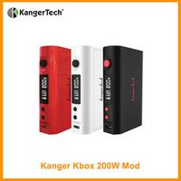 Original Kanger Kbox 200W Mod 510 Thread By 2pcs 18650 Batteries not included Vape Coil Temperature Control Elektronik Sigara