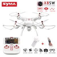 New SYMA X8SW RC Quadcopter 2.4G 4CH 6-Axis Drone with WIFI Camera HD Real-Time Sharing RC Helicopter Vs MJX X101 Syma X8 X8C