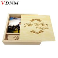 VBNM LOGO Custom Photo Album Wooden pen+Box usb flash drive Memory stick Pendrive 8GB 16GB for Photography Wedding video gift