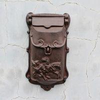 Top selling European cast iron mailbox Wall Mount Metal