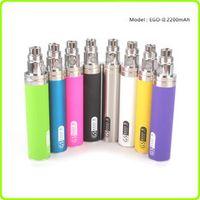 2pcs Big Capacity 2200mah EGO 1 week Battery For ego II Electronic Cigarette Ego/510 Thread Battery (1 EGO 1 week II )