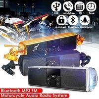 CKINNFON 30PCS Motorcycle MP3 Music LED Motorbike Bluetooth Stereo Speaker FM Radio