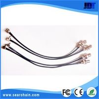 Customized RG174 10cm TS9 male right angle to F female nut bulkhead Connector Extension Cable Pigtail Jumper
