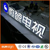 shsuosai Acrylic double lighted mini led letters