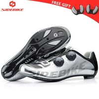 SIDEBIKE Bicycle Cycling Shoes Self-Locking Carbon Road Bike Racing color