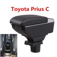 LISCN For ToyotaPrius Prius C box central Store content Storage box Aqua armrest