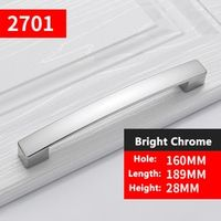 Bright Chrome Knobs and Pulls for Furniture Cabinets Door Handles Drawer Pulls Kitchen Cupboard Handles YJ2701