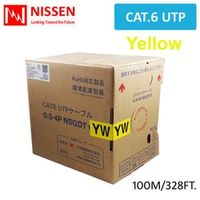 VEnTIOn High Speed Cat6 network/ethernet cable UTP 2x4x24AWG 100m 328ft. -Yellow