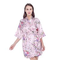 Silk Satin Wedding Bride Bridesmaid Robe Floral For Women