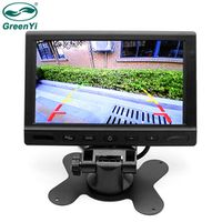 GreenYi T712 10 PCS/Lot 7 inch 2 Video Input Remote control parking Assistance
