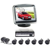 "FY-UU Car Rear Kit Reverse Front View Camera 3.5"" Monitor 6 Parking Sensor before"