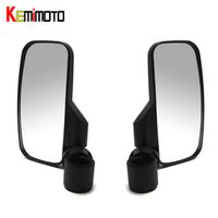 "KEMiMOTO 1 pair 1.75""Universal 2"" Bracket Break Side Mirror for Polaris RZR XP1000 RZR 900 For Can Am Rear view Handlebar Mount"
