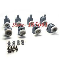 New Set of 8 Single Shower Door Rollers / Runners / Wheels / Pulleys / Radio  25 mm Diameter Home Bathroom Replacement Parts