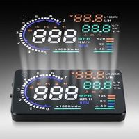 Rectangle A8 HUD Head Up Display Fuel Consumption OBDII Car Driving Data Diagnosis