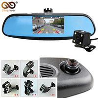 Sinairyu HD 1080P Mirror Monitor Dash Car Rear View Camera Camcorder Dual Lens