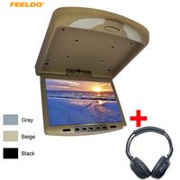 "FEELDO FEELDI 12"" Car Bus TFT LCD Roof Mounted 12Inch Flip Down Monitor with"