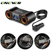 Onever 2 in 1 3.5A Dual USB Car Cigarette Lighter Socket 2 Cigarette Lighter Voltage